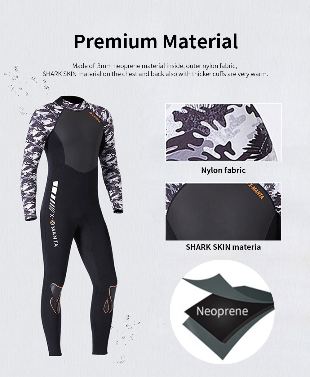 2019 New Diving Suits 3mm Neoprene One Piece Sport Skin Spearfishing Full Suit for Men and Women Snorkeling Scuba Diving Surfing 3
