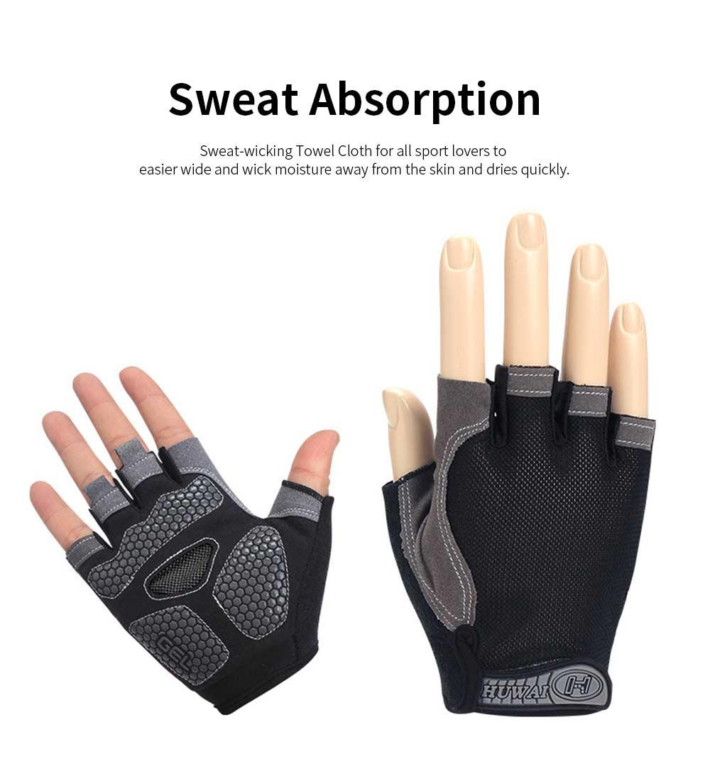 Cycling Gloves Half Finger Mesh Mountain Riding Gloves with Lightweight Anti-Slip Shock-Absorbing Biking Gloves for Men and Women 2