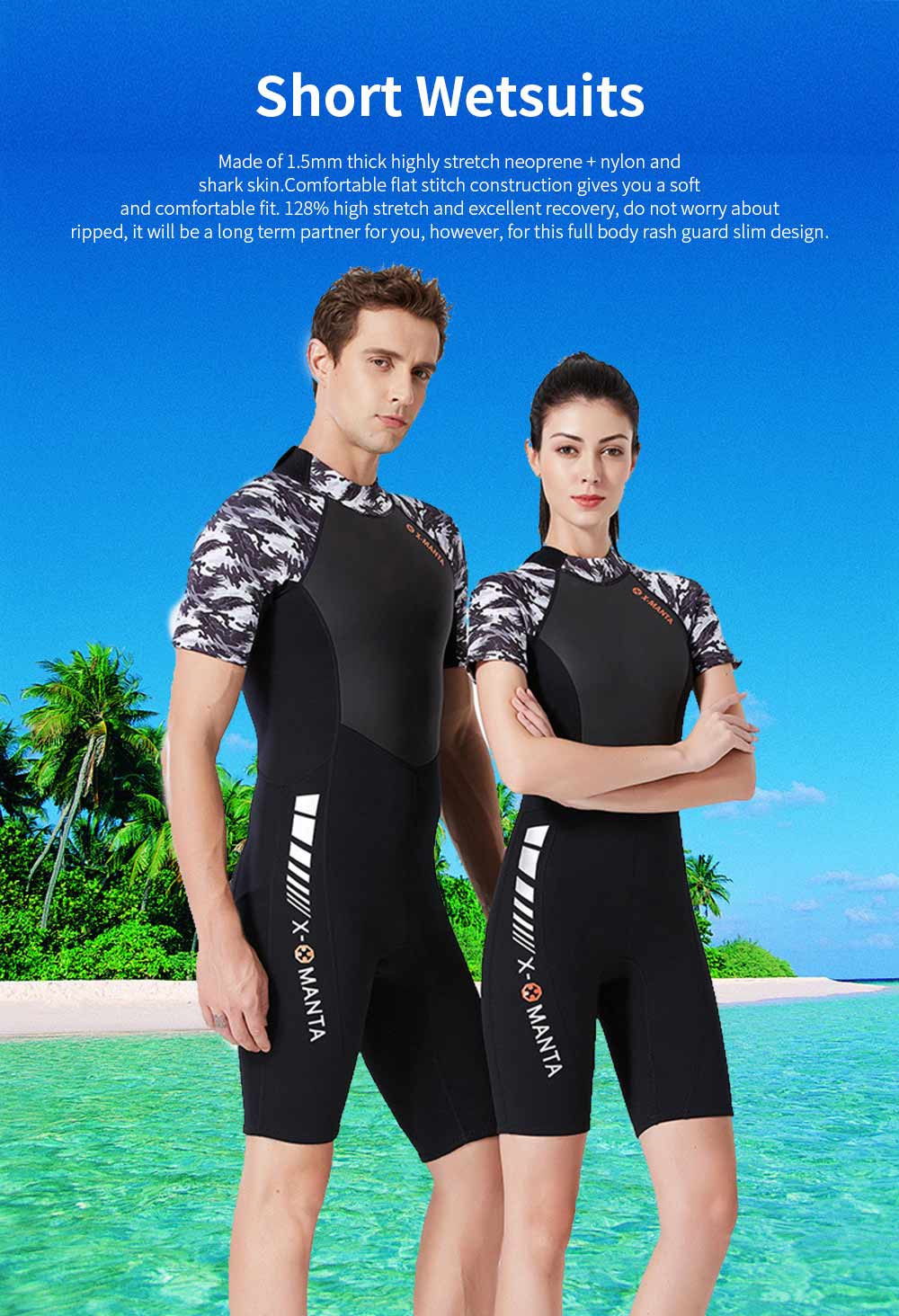 Women Short Wetsuits Premium 1.5mm Neoprene UV Protection Back Zip Diving Suits for Snorkeling Surfing Swimming 0