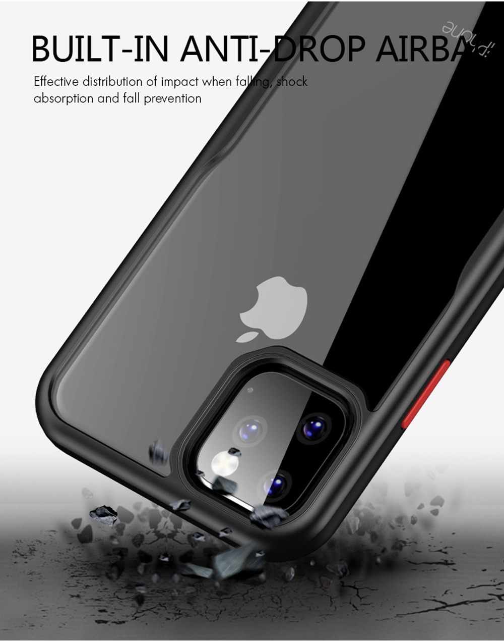 Transparent Soft Phone Case Back Cover Style iPhone Protective Shell Compatible for iPhone 11 Anti-drop Mobile Phone Shell 6