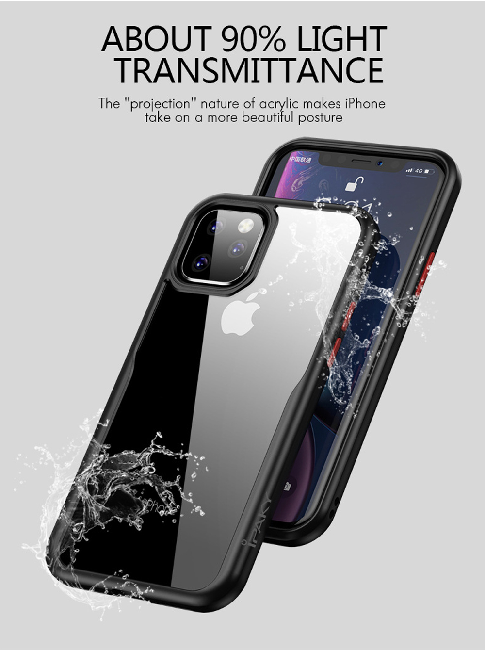 Transparent Soft Phone Case Back Cover Style iPhone Protective Shell Compatible for iPhone 11 Anti-drop Mobile Phone Shell 2