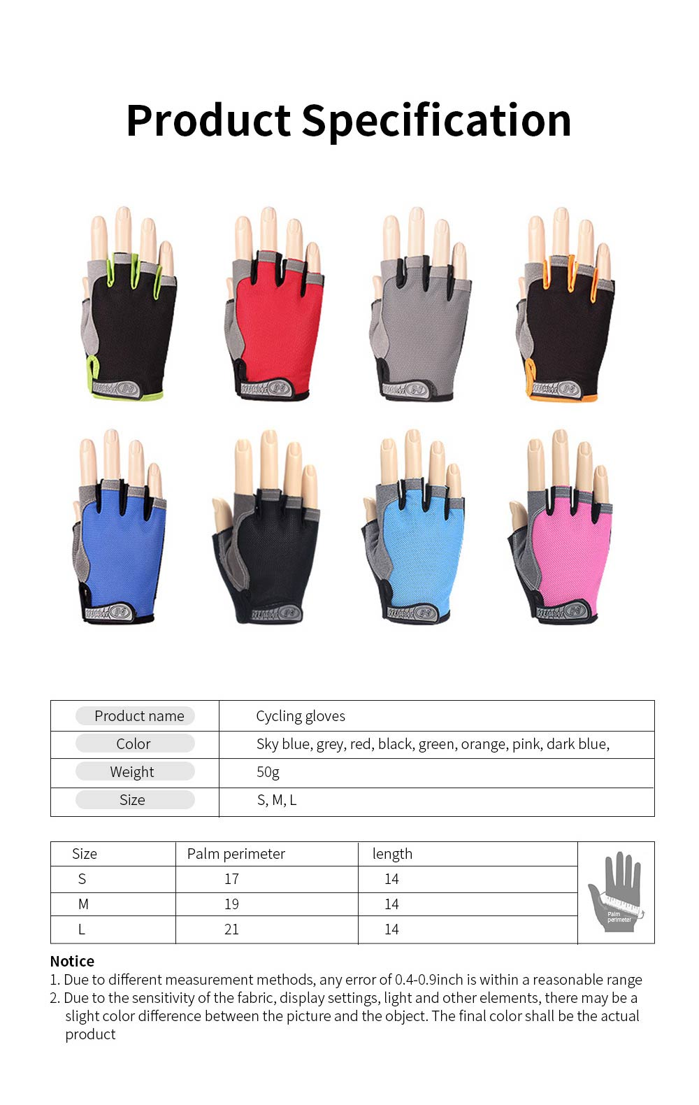 Cycling Gloves Half Finger Mesh Mountain Riding Gloves with Lightweight Anti-Slip Shock-Absorbing Biking Gloves for Men and Women 6