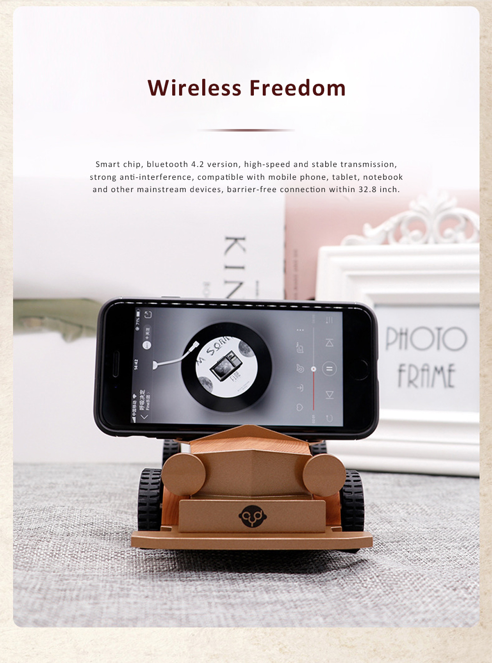 Retro Car-shaped Bluetooth Speaker with FM Radio Built-in Microphone Support Hands Free Phone Calls 9