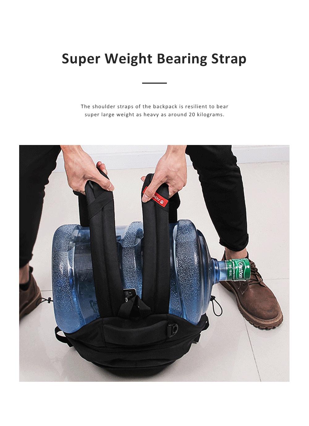 30L Large Capacity Men's Backpack for Outdoors Travelling Business Trip Waterproof Computer Bag Durable Shoulders Bag 8