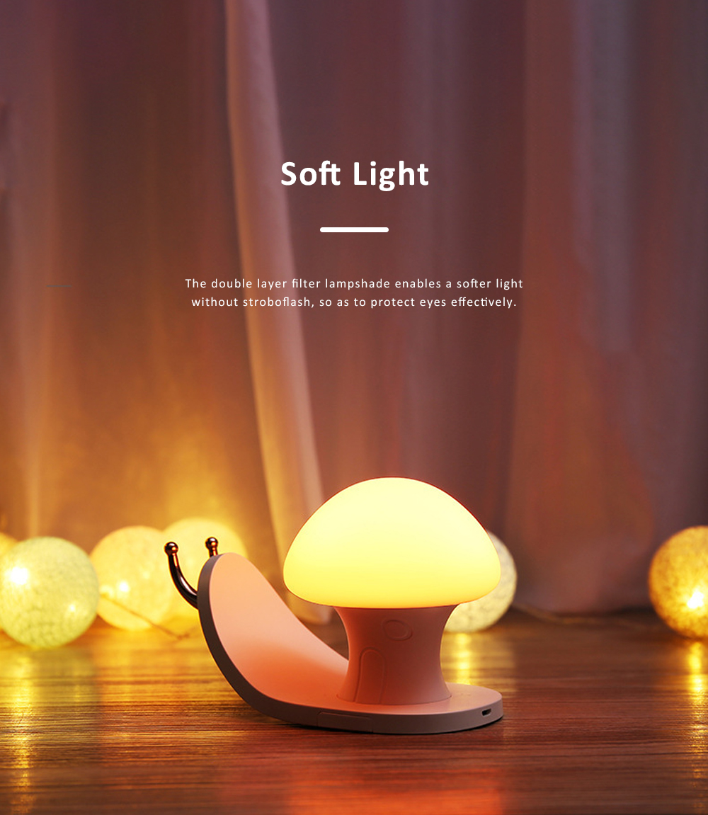 Snail House Night Light Silicone USB Rechargeable Night Lights Multifunctional Phone Holder  Stand Colorful Bedside Ambient Lamp 9