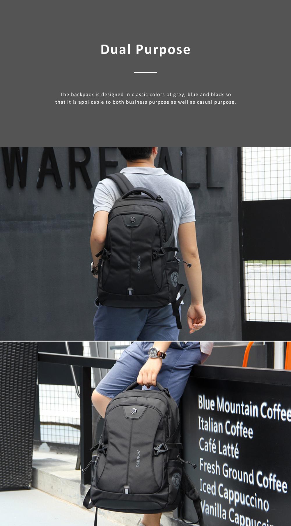 30L Large Capacity Men's Backpack for Outdoors Travelling Business Trip Waterproof Computer Bag Durable Shoulders Bag 3
