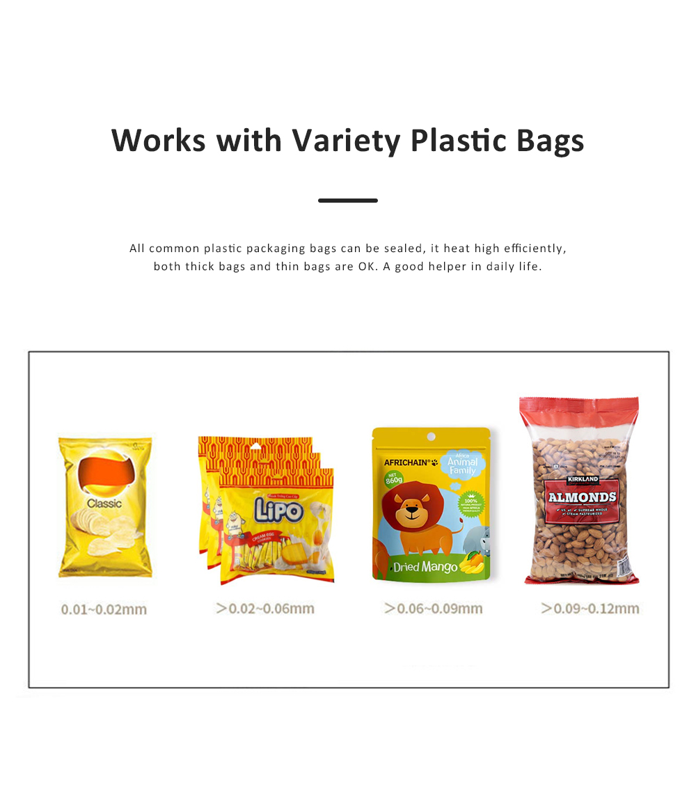 Portable Handheld Plastic Bag Sealer Machine with Double Heat Wires for Airtight Food Storage Household Appliances for Kitchen 2