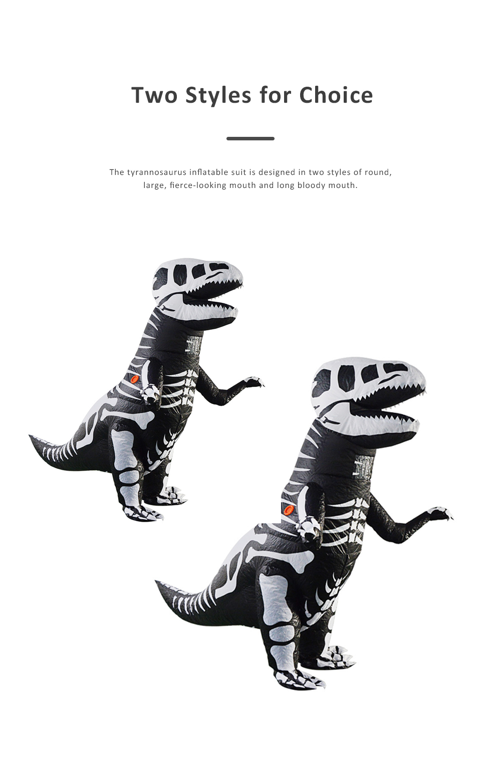 Tyrannosaurus Inflatable Suit for Halloween's Day Performance Waterproof Durable Walking Dinosaur Inflated Pressure Dress Inflatable Costume 3