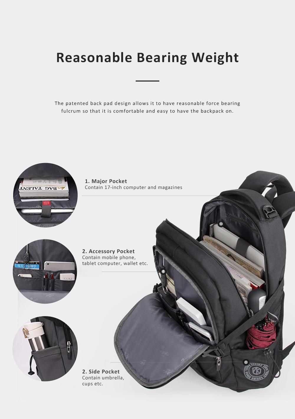 30L Large Capacity Men's Backpack for Outdoors Travelling Business Trip Waterproof Computer Bag Durable Shoulders Bag 4