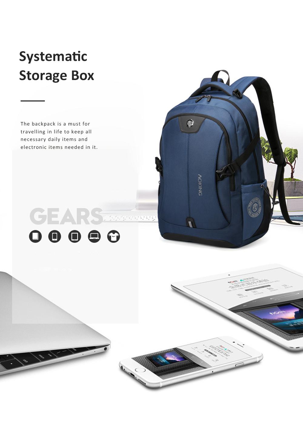 30L Large Capacity Men's Backpack for Outdoors Travelling Business Trip Waterproof Computer Bag Durable Shoulders Bag 1