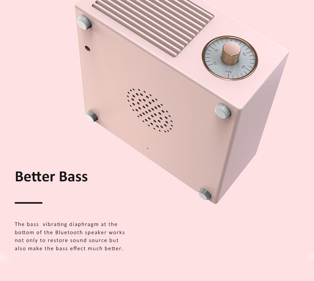 Retro Vinyl Record Bluetooth Speaker Wireless Mini Subwoofer Portable Loudspeaker Box USB Rechargeable Baffle Box Nice Christmas Birthday Present 5