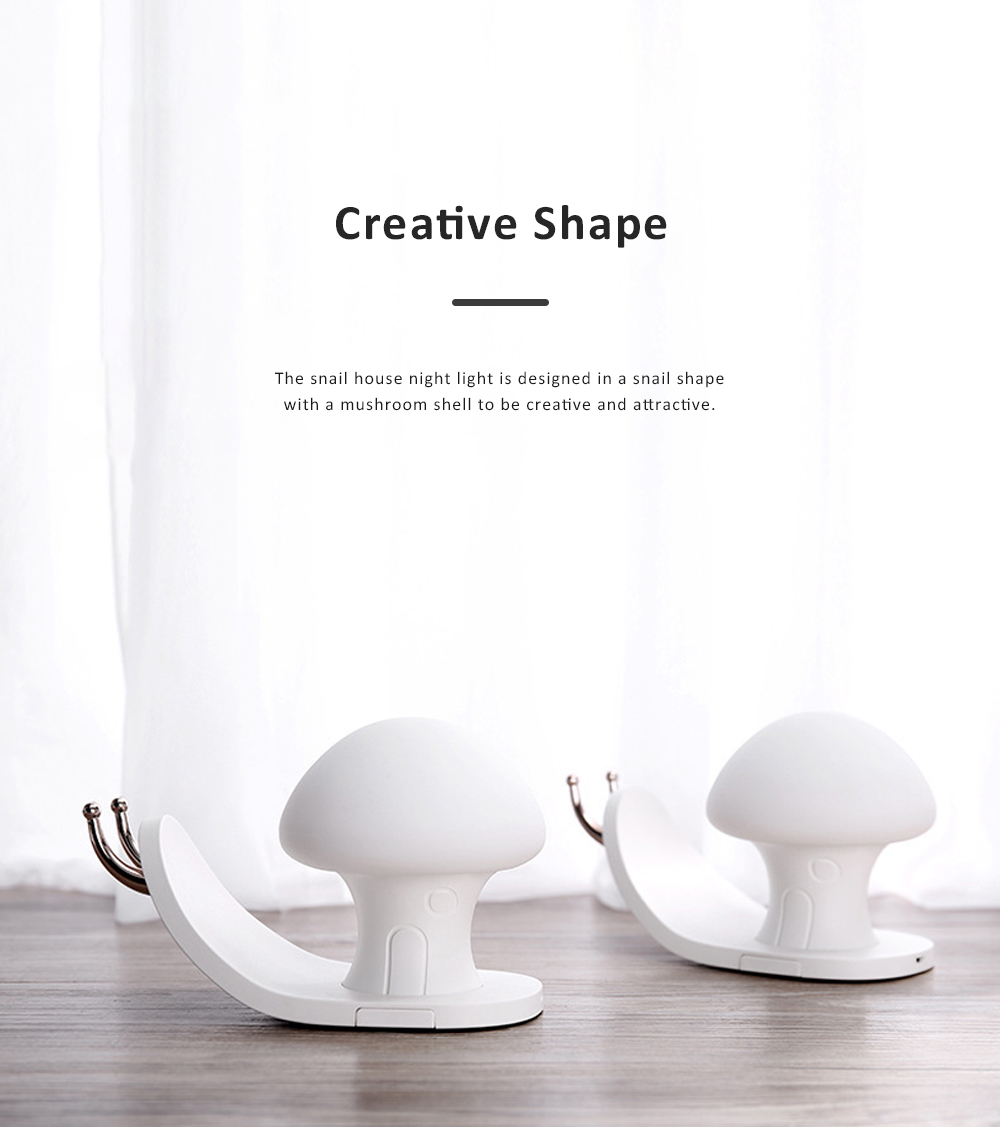 Snail House Night Light Silicone USB Rechargeable Night Lights Multifunctional Phone Holder  Stand Colorful Bedside Ambient Lamp 1