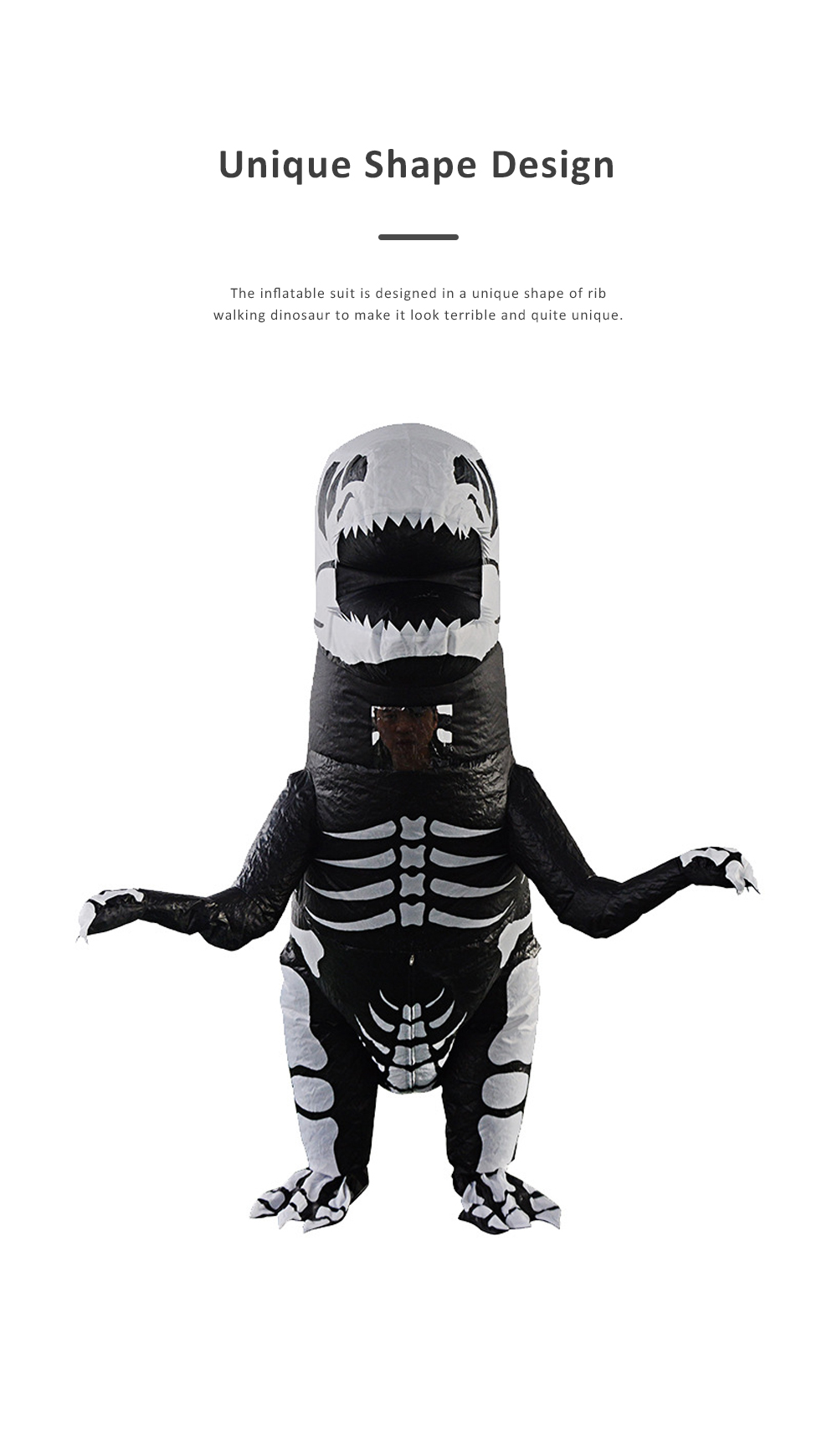 Tyrannosaurus Inflatable Suit for Halloween's Day Performance Waterproof Durable Walking Dinosaur Inflated Pressure Dress Inflatable Costume 1