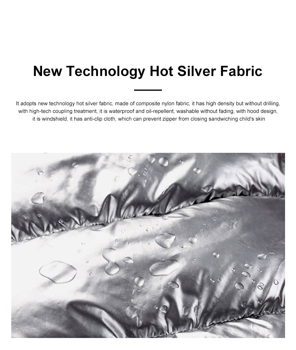 Glossy Silver Children's Down Coat Thickened Cotton Men & Women Children's Clothing Baby Down Cotton Space Bread Clothing 2019 5