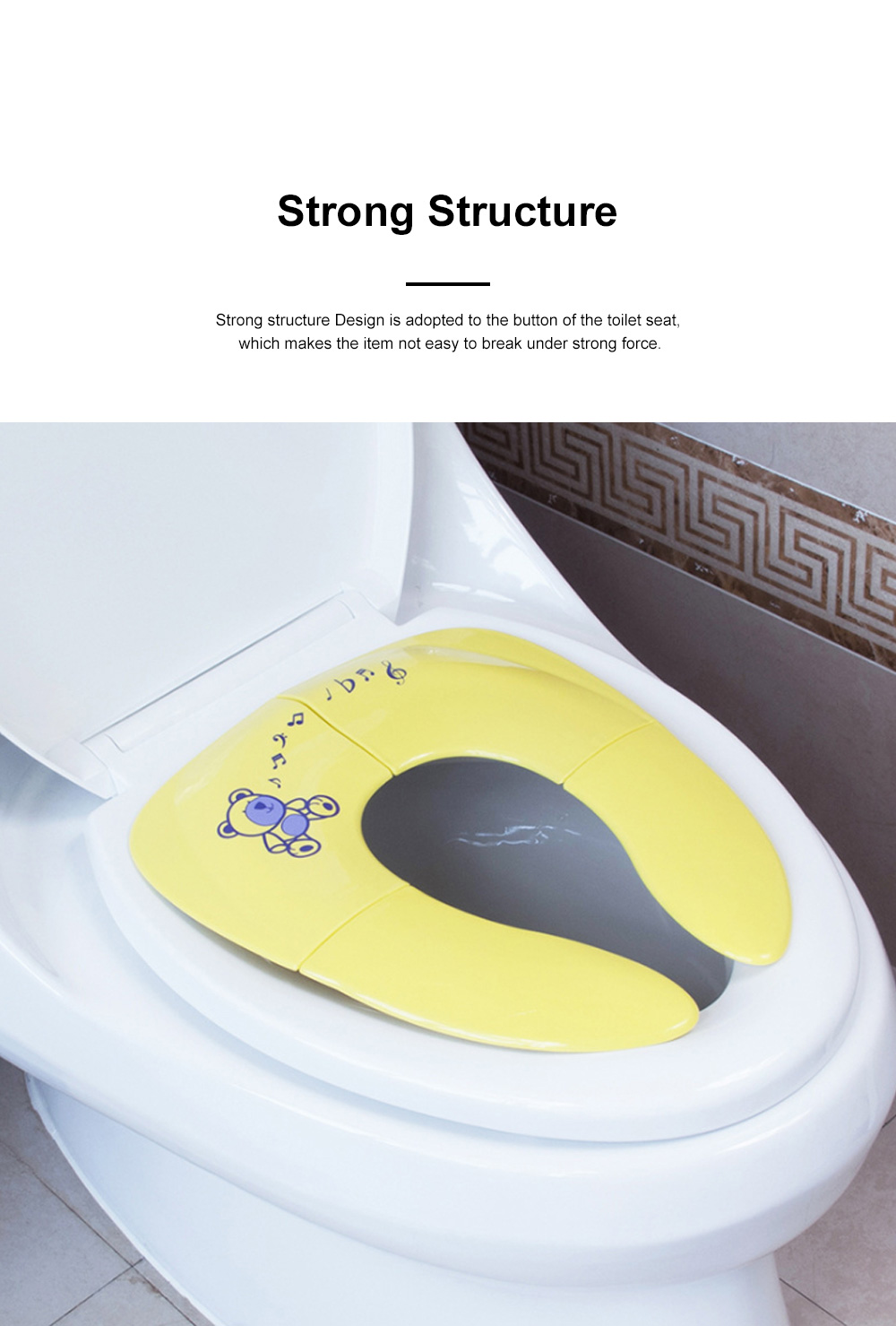 Portable Foldable Outdoors Traveling Children Safety Toilet Seat with Anti-skid Pads Buckles Kids Toilet Cushion 5