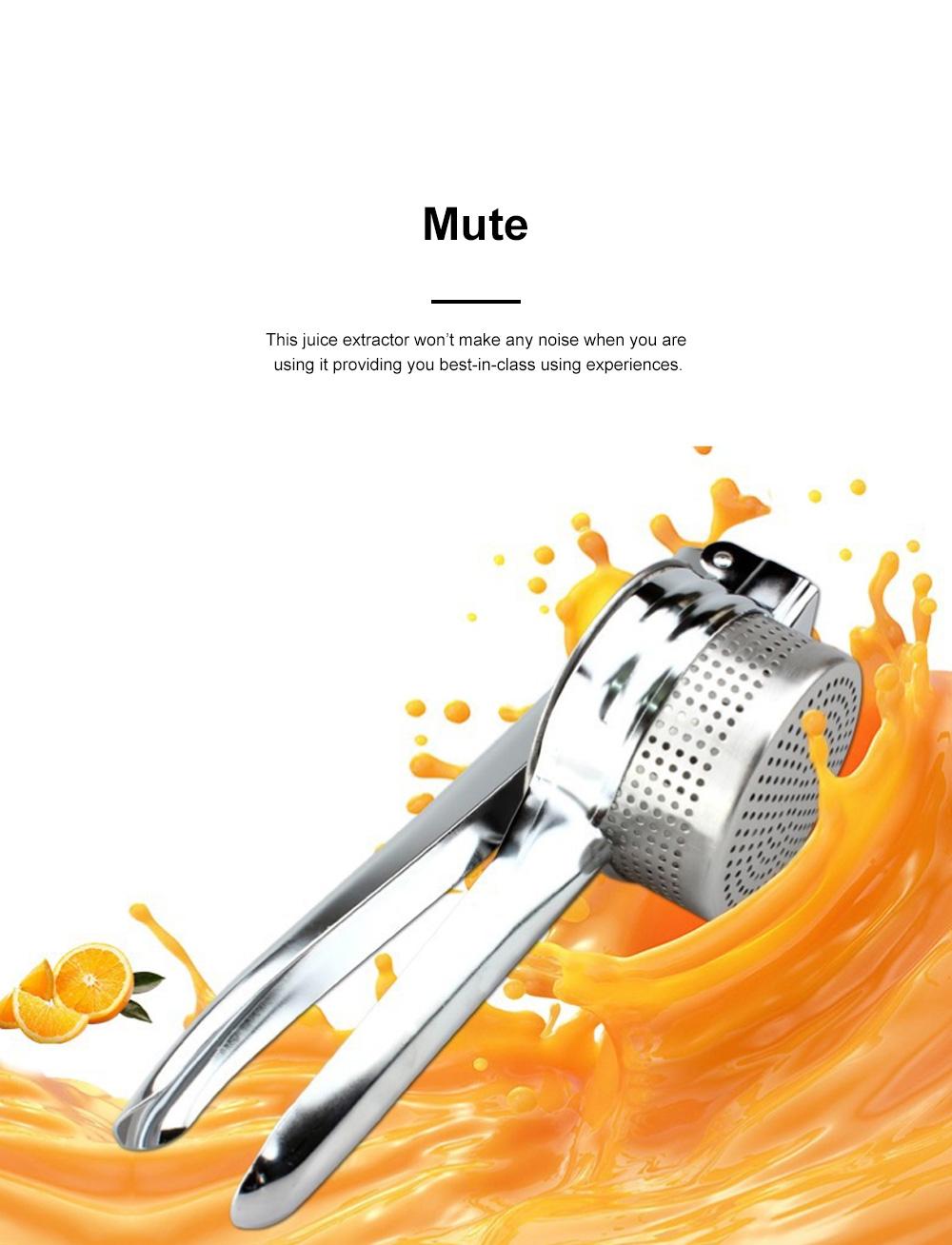 Handy Manual Operation Stainless Steel Juice Extractor Orange Lemon Juicer Garlic Press Kitchen Assistant Tool 3