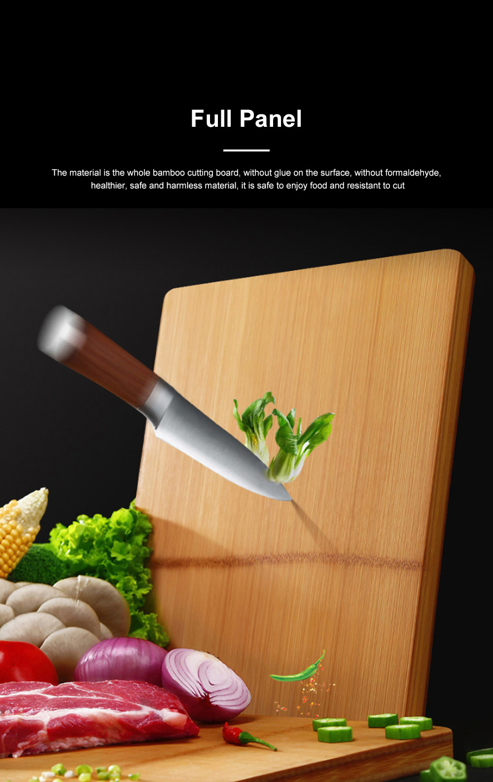 Multi-function Bamboo Cutting Board Baby Food Supplement Fruit Plastic Chopping Board Set Combination 1