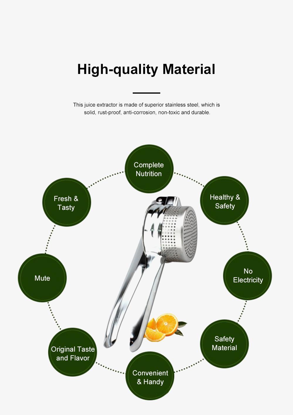 Handy Manual Operation Stainless Steel Juice Extractor Orange Lemon Juicer Garlic Press Kitchen Assistant Tool 5