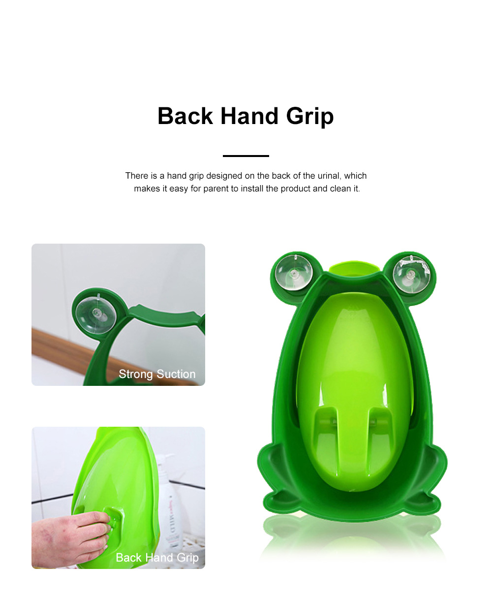 Cute Frog Model Wall Hanging Children Standing Urinal Separable Strong Suction Toilet Training for Boys 2