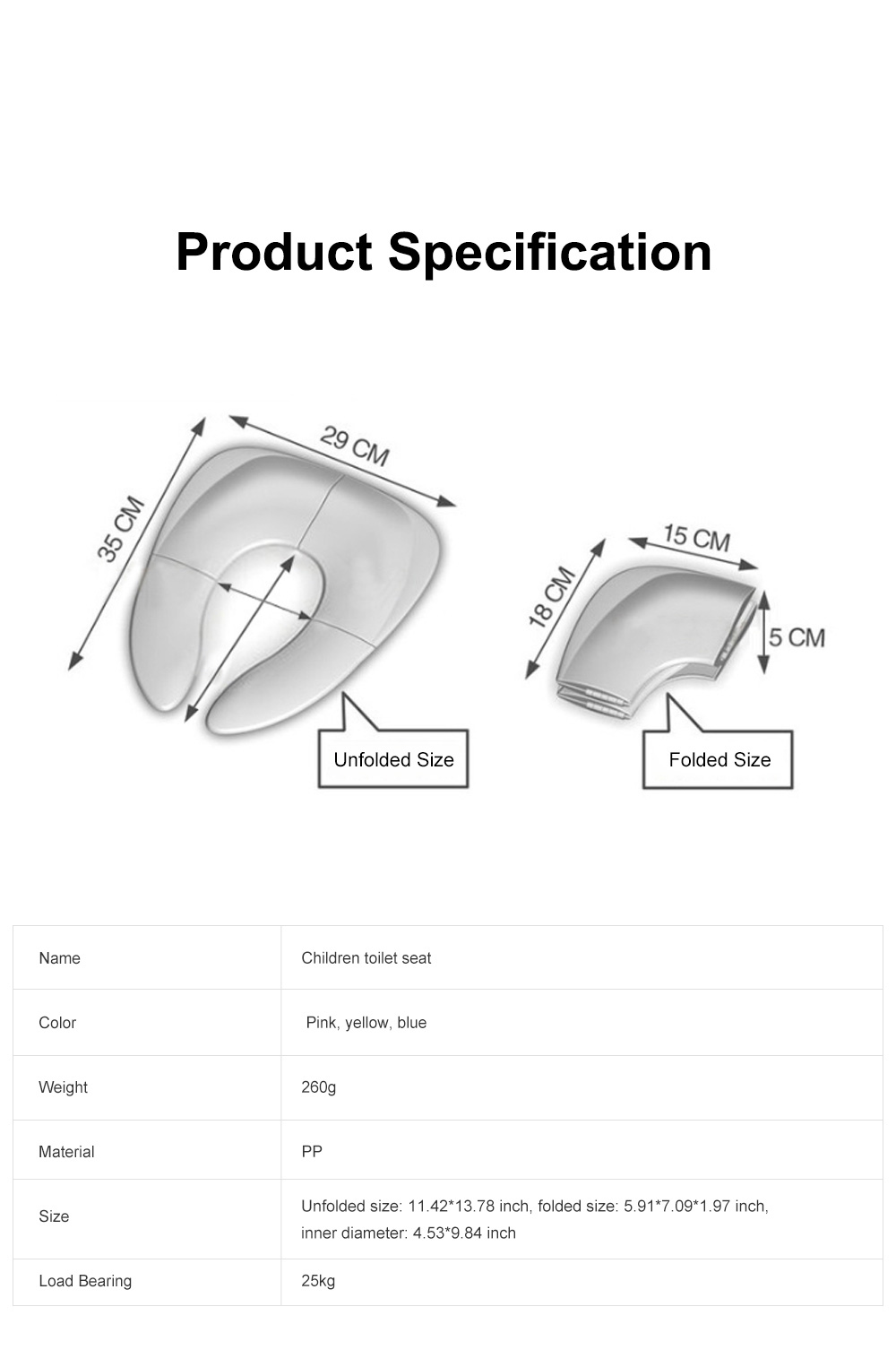 Portable Foldable Outdoors Traveling Children Safety Toilet Seat with Anti-skid Pads Buckles Kids Toilet Cushion 6