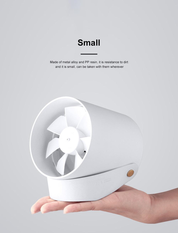 Feather Mute Mini Fan Small USB Fan Computer Mobile Phone Office Desktop Rechargeable Smart Touch Air Cooler Portable Fan 5