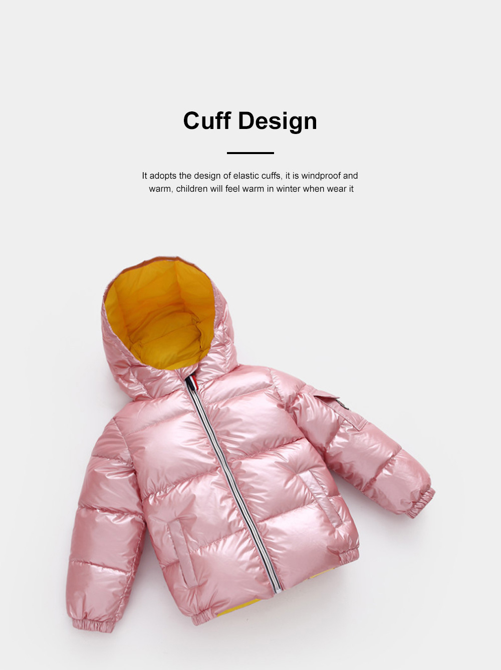 Glossy Silver Children's Down Coat Thickened Cotton Men & Women Children's Clothing Baby Down Cotton Space Bread Clothing 2019 2
