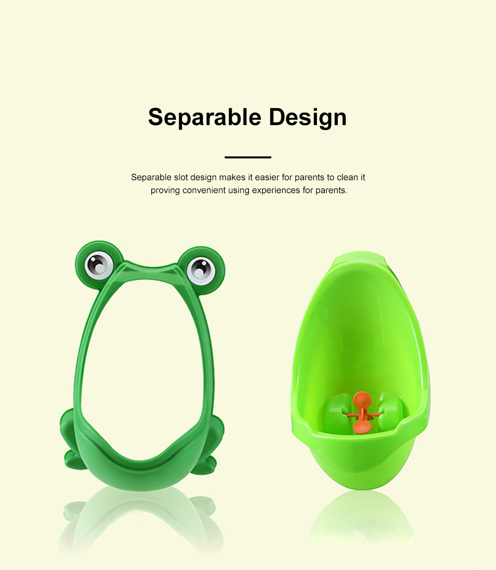 Cute Frog Model Wall Hanging Children Standing Urinal Separable Strong Suction Toilet Training for Boys 3