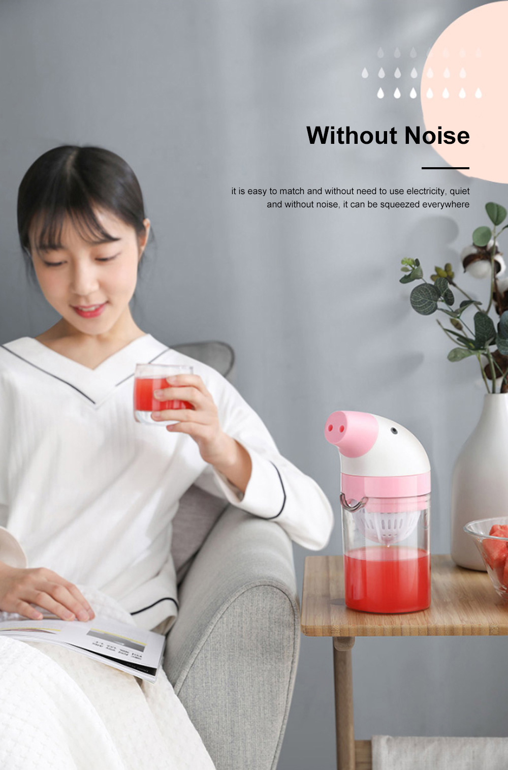 Simple Manual Juicer Cup Small Hand Shake Household Fruit Press Lemon Juice Artifact Hand Squeezed Juice Cup 5