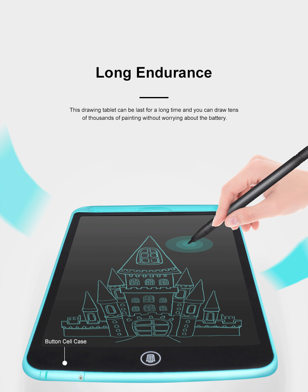 Creative Portable Children LCD Tablet Electronic Painting Drawing Writing Board Paperless Pad for Kids Office Tool 5