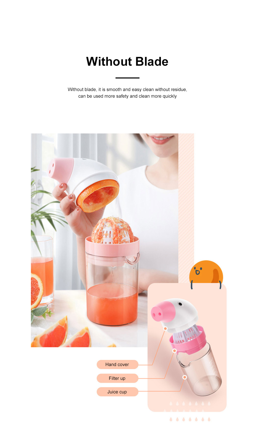 Simple Manual Juicer Cup Small Hand Shake Household Fruit Press Lemon Juice Artifact Hand Squeezed Juice Cup 2