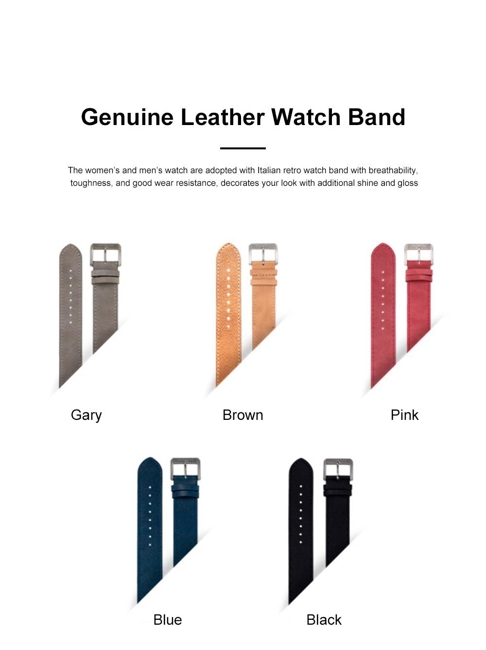 Lovers Mechanical Watch Waterproof Leisure Fashion Wristwatch for Men Women Couple Watch Gift Leather Luminous Needle Vertical Movement 1