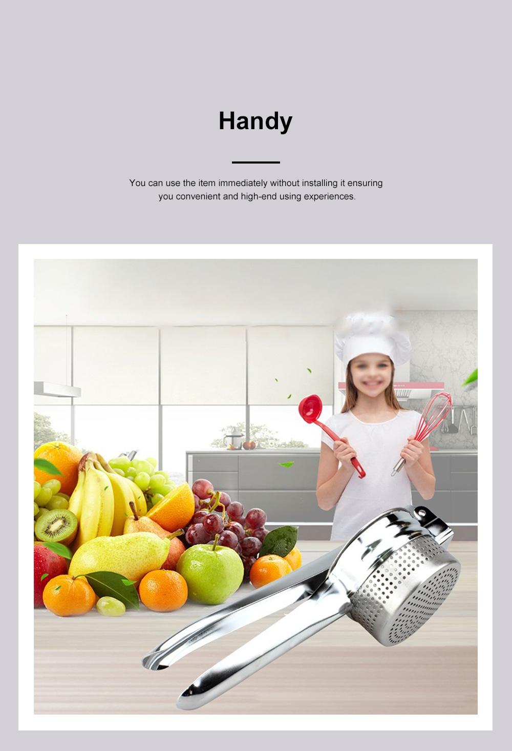 Handy Manual Operation Stainless Steel Juice Extractor Orange Lemon Juicer Garlic Press Kitchen Assistant Tool 2