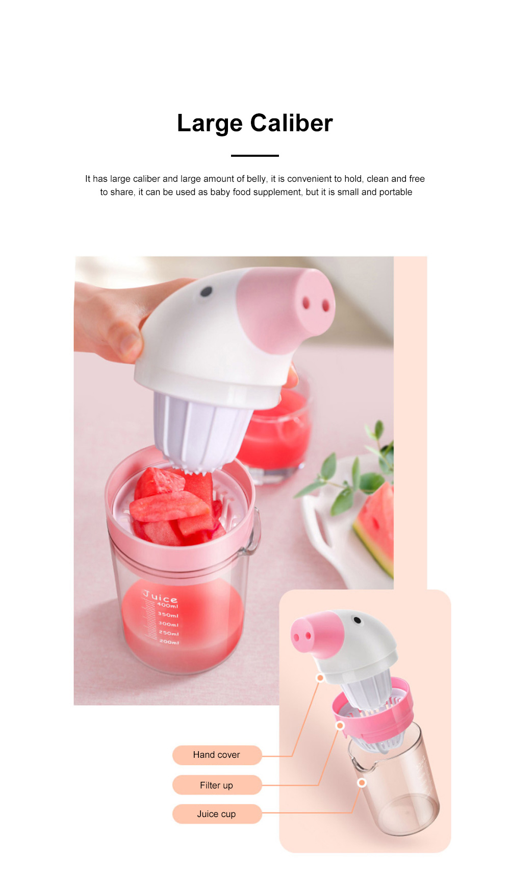 Simple Manual Juicer Cup Small Hand Shake Household Fruit Press Lemon Juice Artifact Hand Squeezed Juice Cup 4