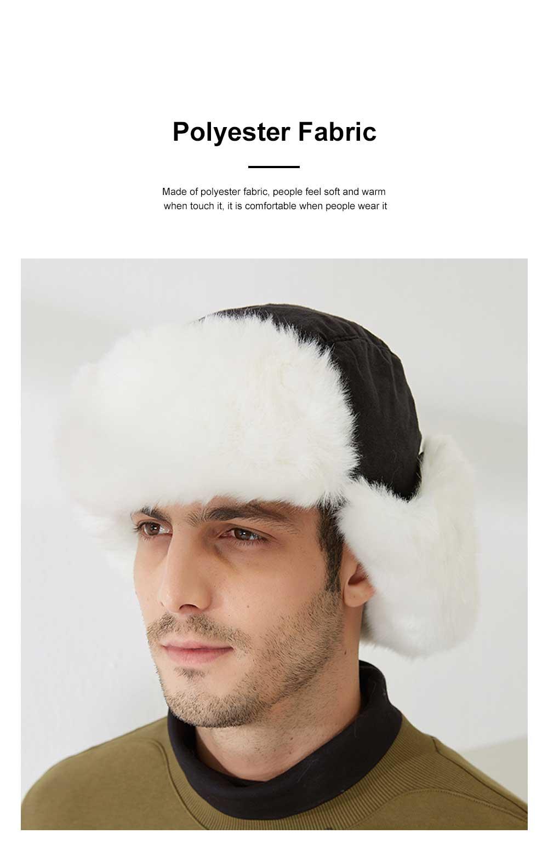 Winter Snow Hat Old Men Thickening Plus Velvet Warm Cap Plush Animal Cap Russian Style Faux Fur Hat With Ear Flaps Ski Earmuffs 3
