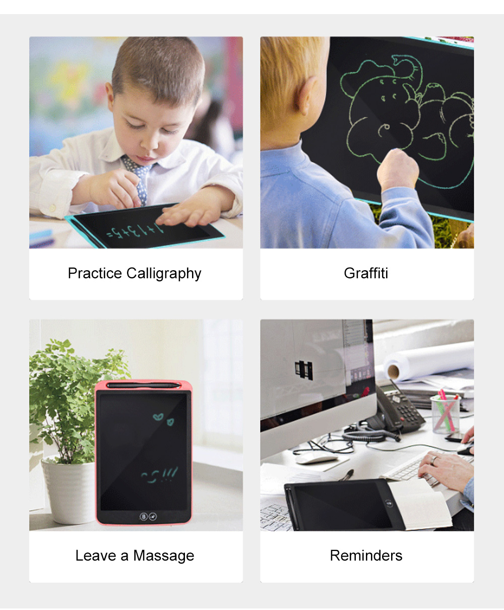 Creative Portable Children LCD Tablet Electronic Painting Drawing Writing Board Paperless Pad for Kids Office Tool 9