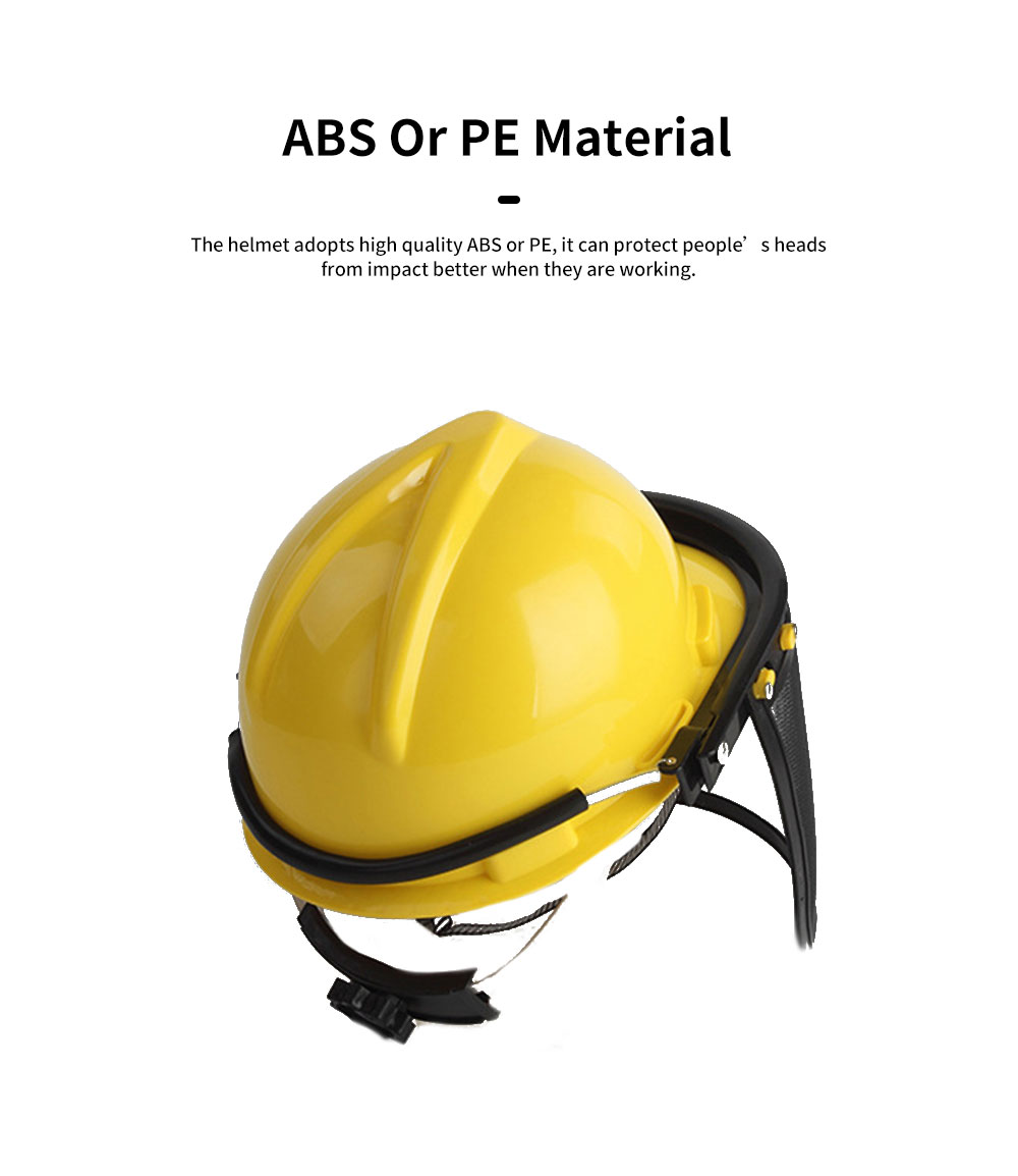 Gardening Safety Helmet Full Face Mask For Glass Cutter With Steel Mesh Visor Protective Earmuff Industrial Helmet Safety Face Shield 1