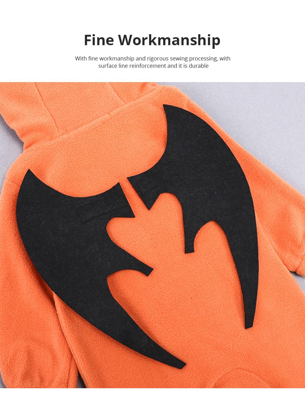 Universal Autumn Winter Halloween Pumpkin Baby Dress Hooded One-Piece Shirt Children's Clothing For Boys Girls 5
