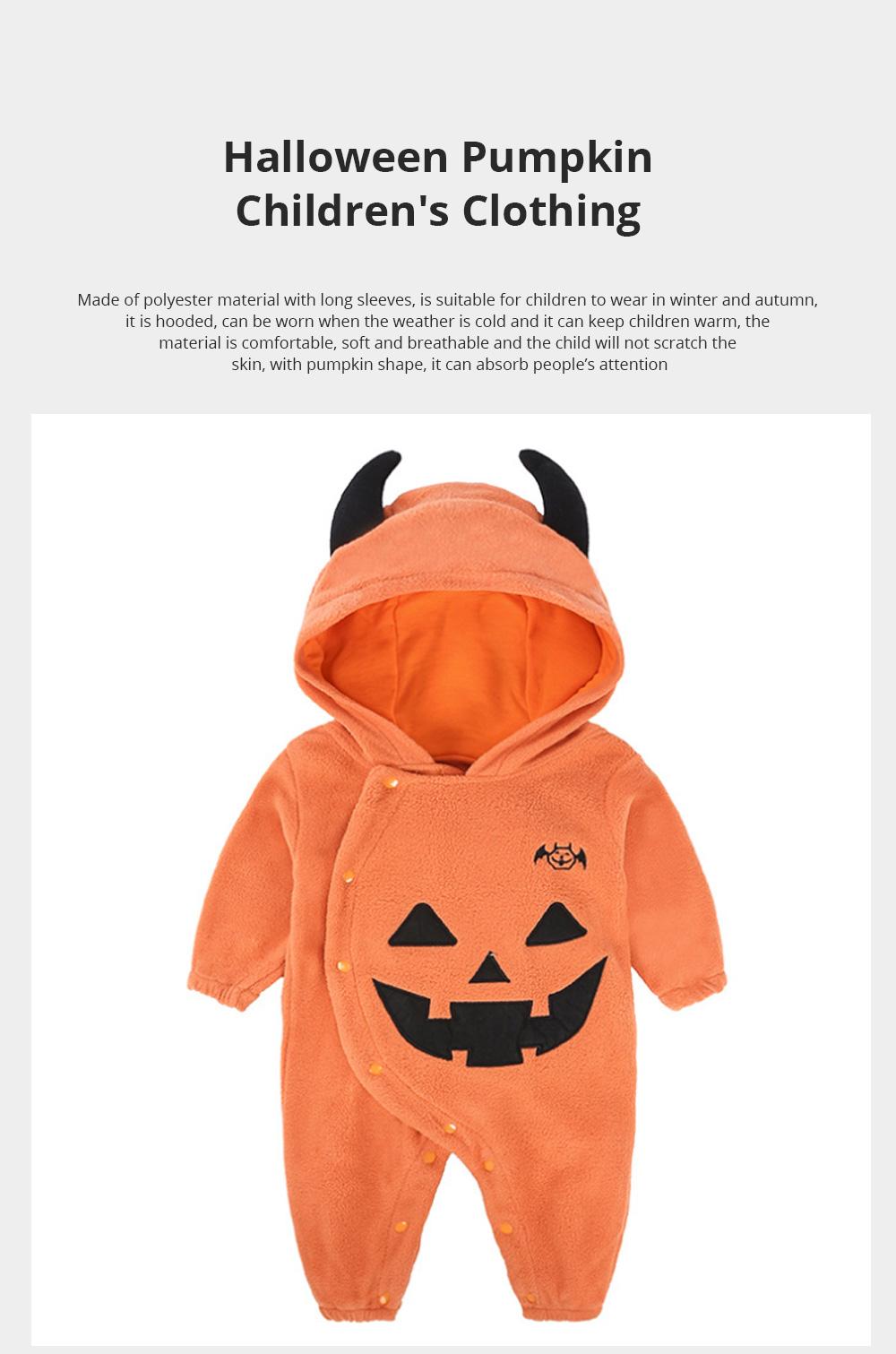 Universal Autumn Winter Halloween Pumpkin Baby Dress Hooded One-Piece Shirt Children's Clothing For Boys Girls 0