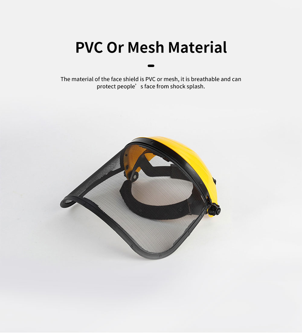 Gardening Safety Helmet Full Face Mask For Glass Cutter With Steel Mesh Visor Protective Earmuff Industrial Helmet Safety Face Shield 2