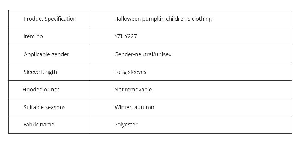 Universal Autumn Winter Halloween Pumpkin Baby Dress Hooded One-Piece Shirt Children's Clothing For Boys Girls 8