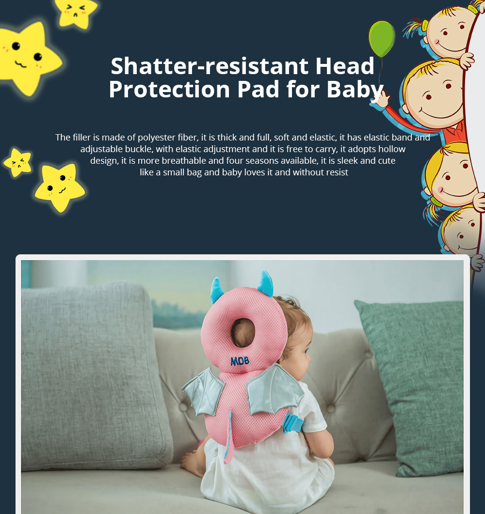 Baby Care Fall Safety Protection Pillow Head Protect Pad Toddler Learning Walking Helmet Anti-fall Back Pillows 1