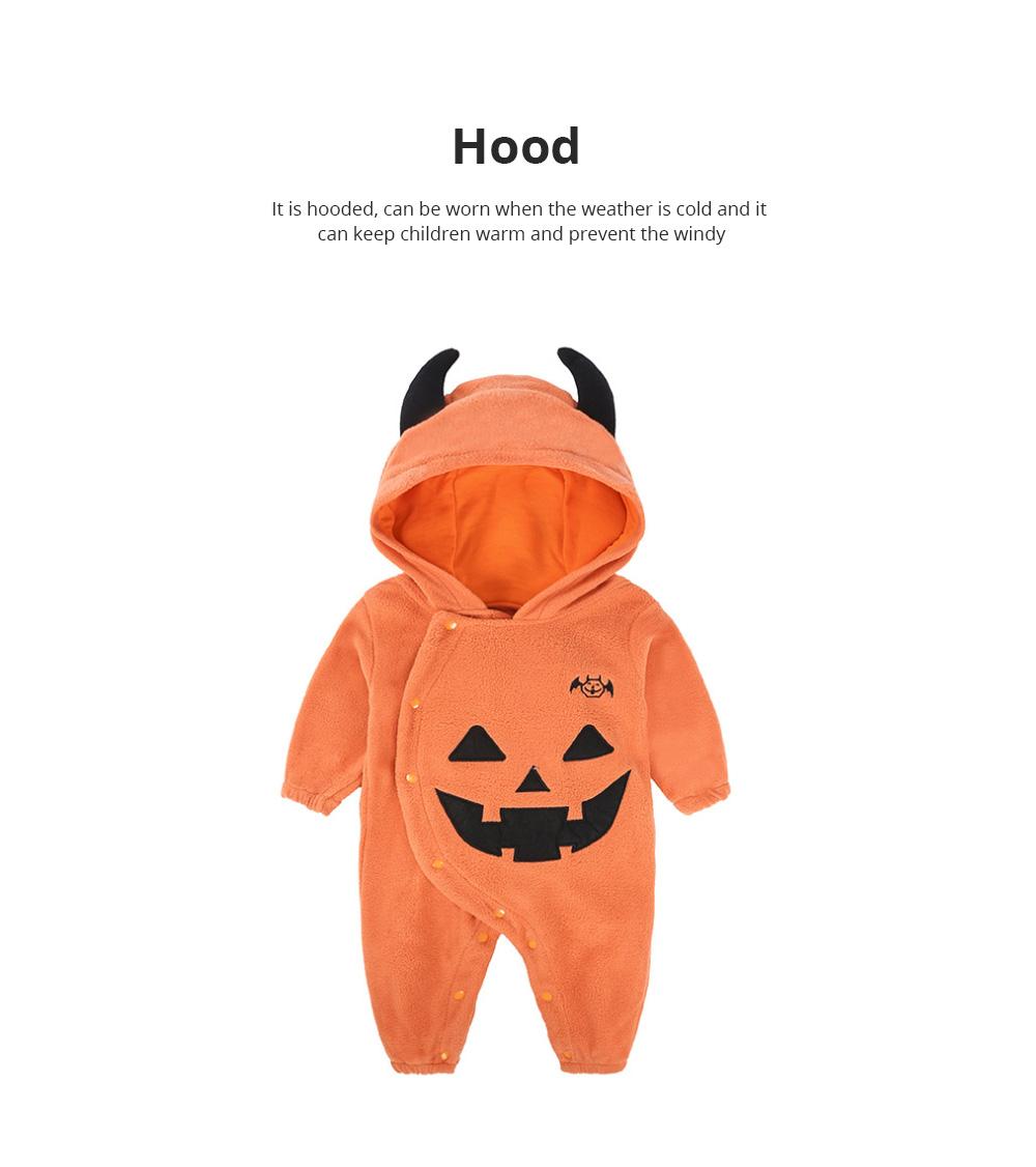 Universal Autumn Winter Halloween Pumpkin Baby Dress Hooded One-Piece Shirt Children's Clothing For Boys Girls 2