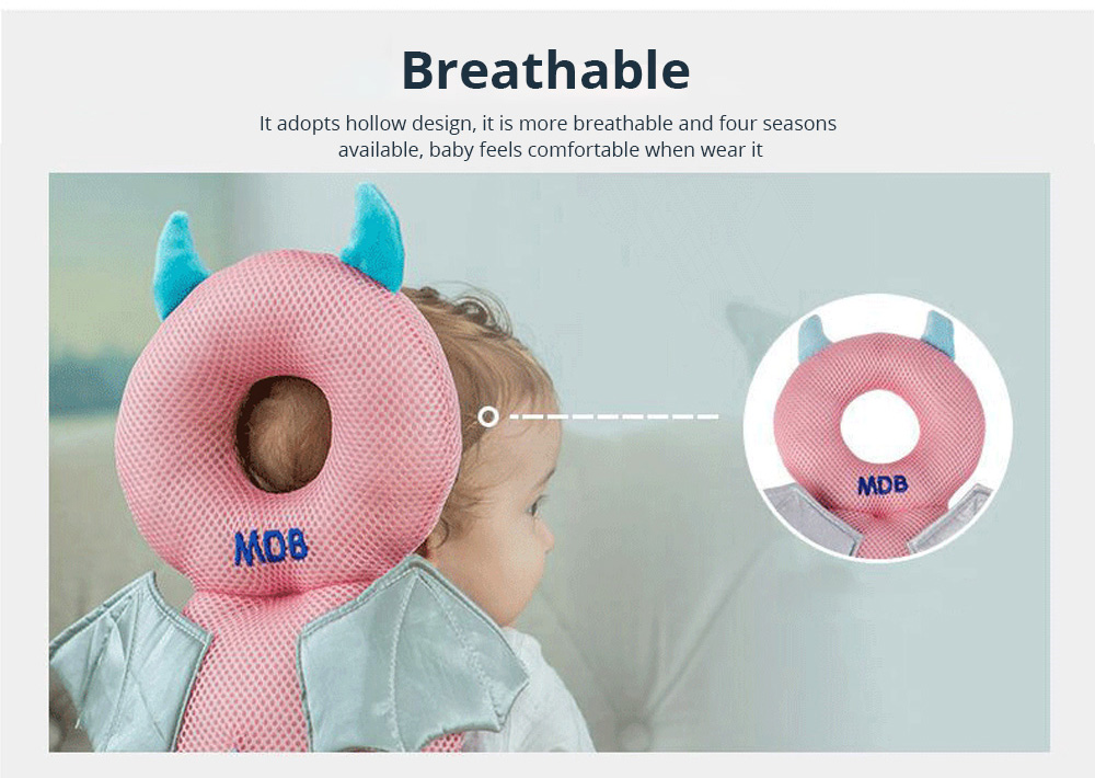 Baby Care Fall Safety Protection Pillow Head Protect Pad Toddler Learning Walking Helmet Anti-fall Back Pillows 5