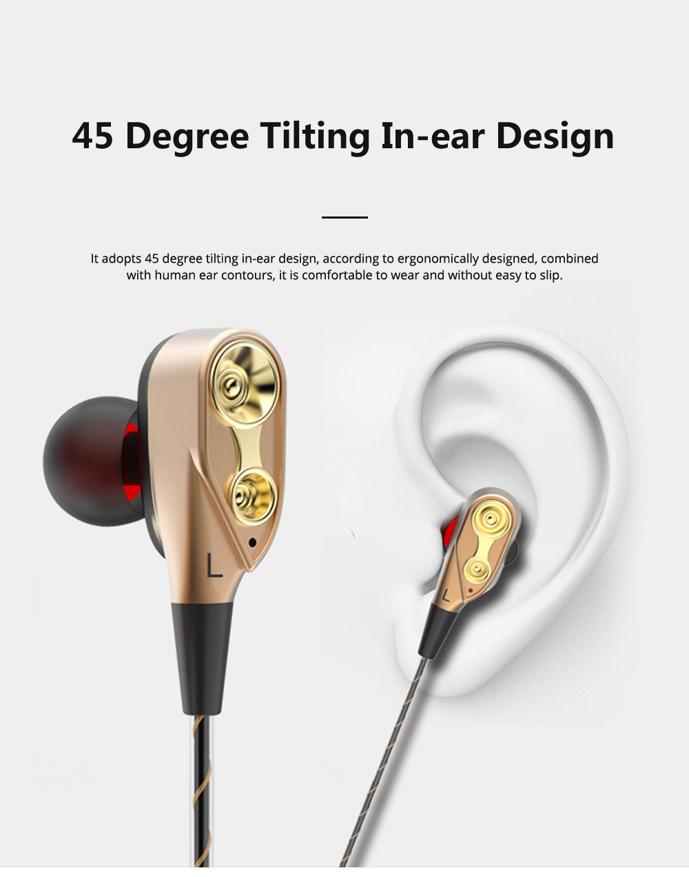 HIFI Heavy Bass Metal Sports Headsets Wired Mobile Phone In Ear Earphone Type C HD Voice Headphones For Cell Phone MP3 Player 6