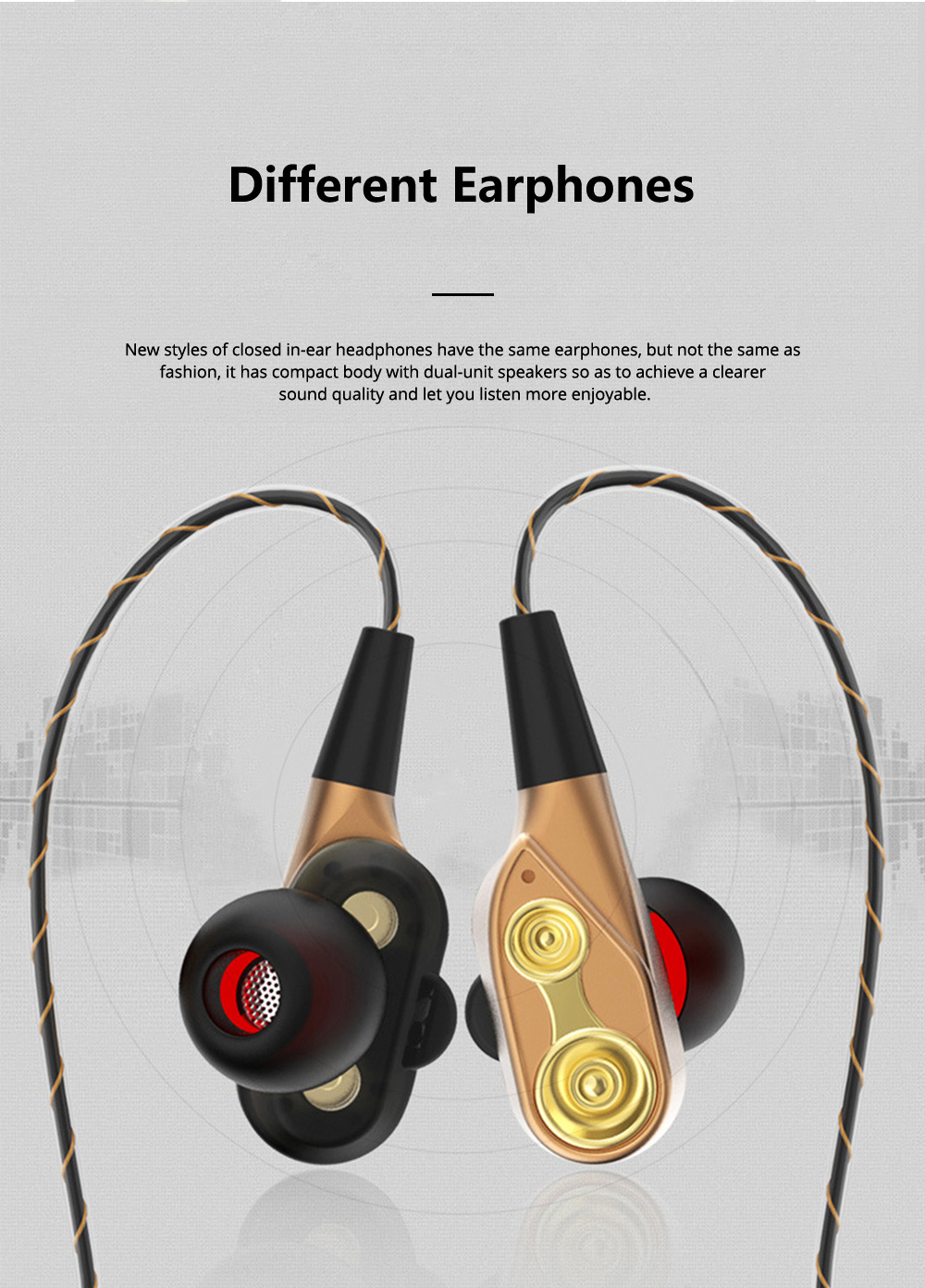 HIFI Heavy Bass Metal Sports Headsets Wired Mobile Phone In Ear Earphone Type C HD Voice Headphones For Cell Phone MP3 Player 8