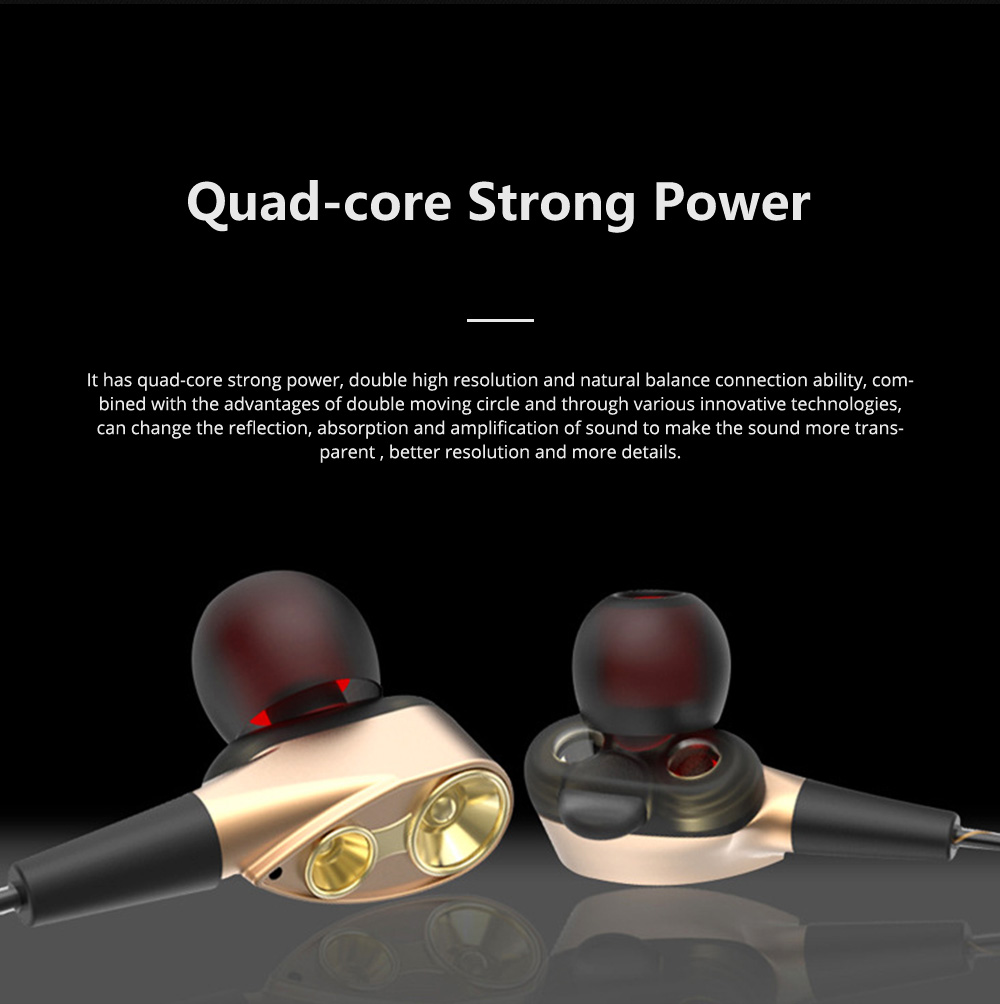HIFI Heavy Bass Metal Sports Headsets Wired Mobile Phone In Ear Earphone Type C HD Voice Headphones For Cell Phone MP3 Player 3