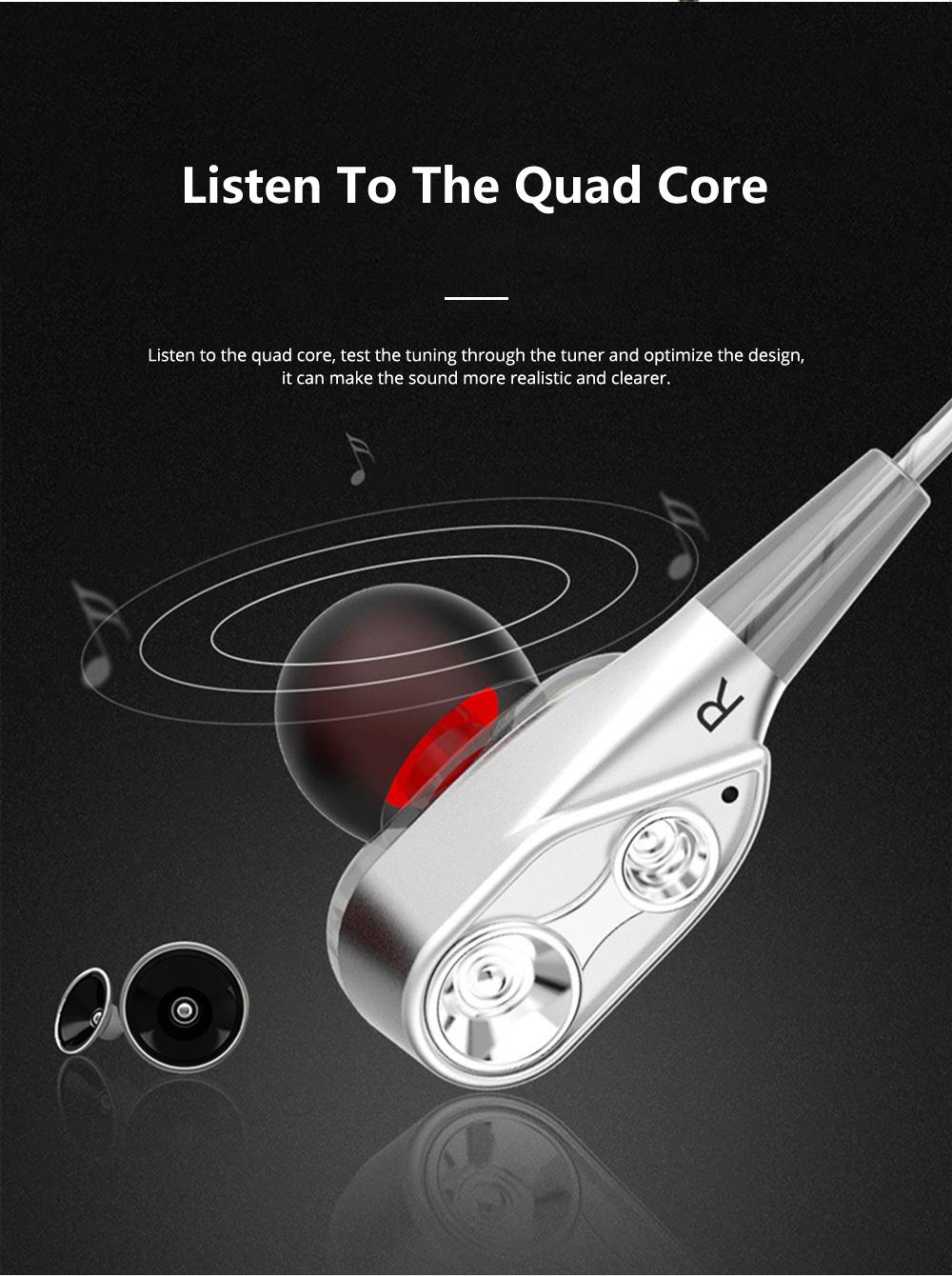 HIFI Heavy Bass Metal Sports Headsets Wired Mobile Phone In Ear Earphone Type C HD Voice Headphones For Cell Phone MP3 Player 5