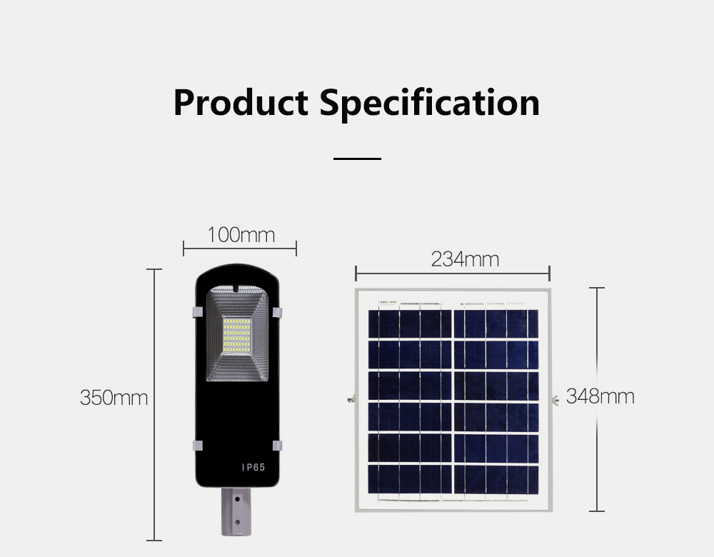 Outdoor LED Solar Light Toothbrush Street Light Solar Power Street Light Outdoor Lighting Garden 20W 30W 50W 8