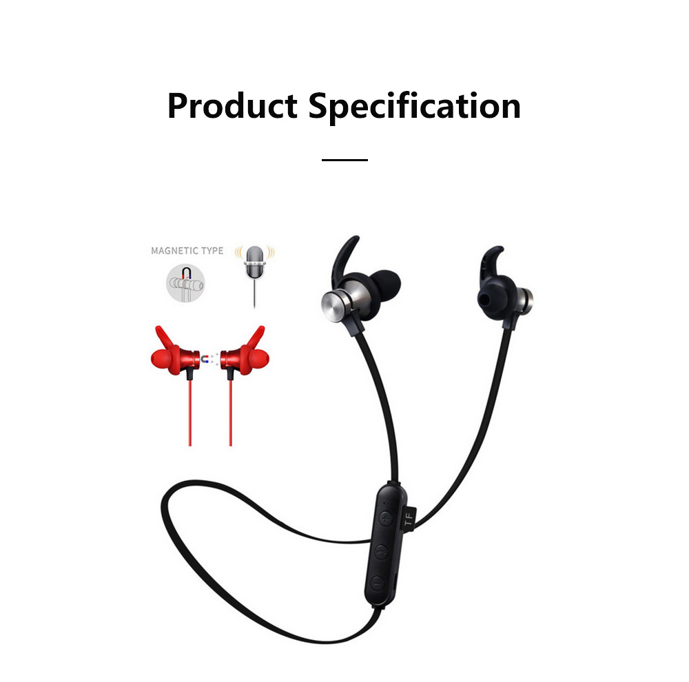 Waterproof Sport Bluetooth Earphone Magnetic Support TF Card XT-22 Wireless Sports Bass With Mic 11