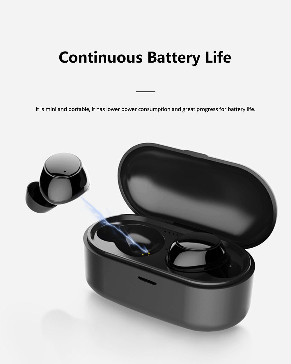 Mini Sports Bluetooth Headset 5.0 TWS Earphones Microphones Waterproof True Wireless Stereo Earbuds For Smart Phones 2